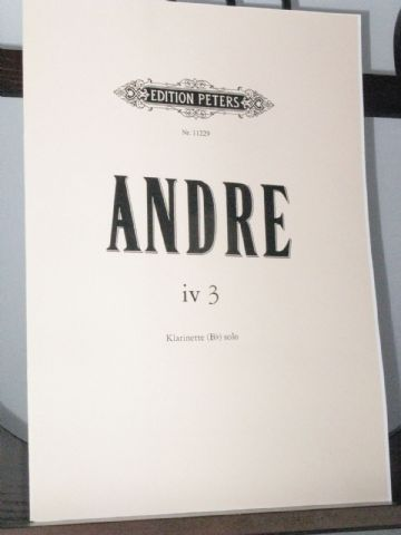 Andre M - iv 3 for Solo Clarinet